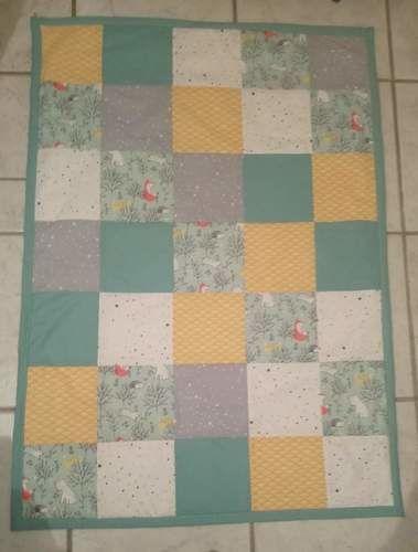 Makerist - Couverture bébé patchwork  - #makeristalamaison - 1