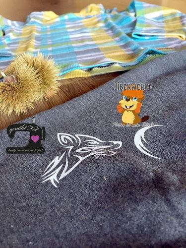 Makerist - Plottdatei Tribal Wolf von Biberwerke - Textilgestaltung - 1