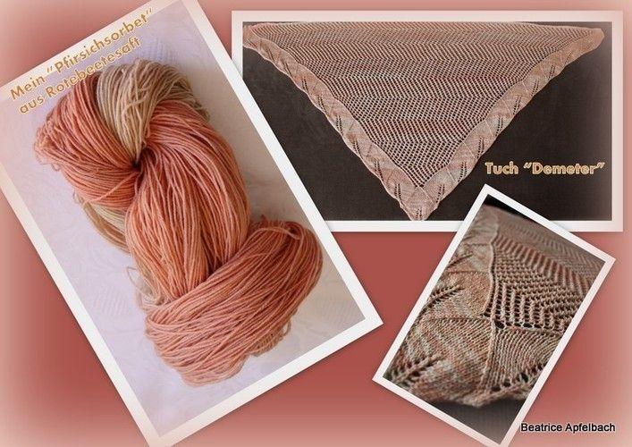 """Makerist - Tuch """"Demeter"""" aus solargefärbter Wolle - Strickprojekte - 1"""