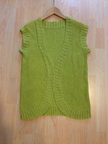 Makerist - Baumwoll-Weste in grün - Strickprojekte - 1