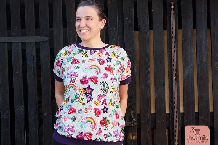 Makerist - Ein knallbuntes lillesol women No.10 T-Shirt und 5 Tipps gegen Lagerkoller! - Nähprojekte - 3
