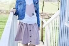 Makerist - Button-Skirt - 1