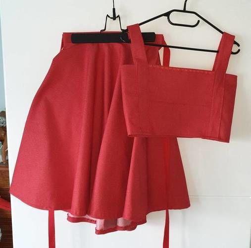 Makerist - Jupe corolle qui tourne en jean framboise - Créations de couture - 1