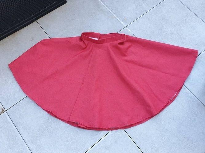 Makerist - Jupe corolle qui tourne en jean framboise - Créations de couture - 2