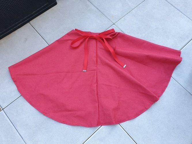 Makerist - Jupe corolle qui tourne en jean framboise - Créations de couture - 3