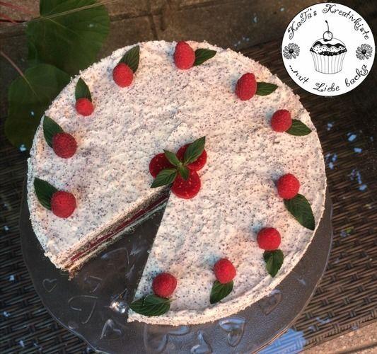 Makerist - Mohntorte mit weißer Schoko-Mohnmousse und Frucht - Torten, Cake Pops und Cupcakes - 2