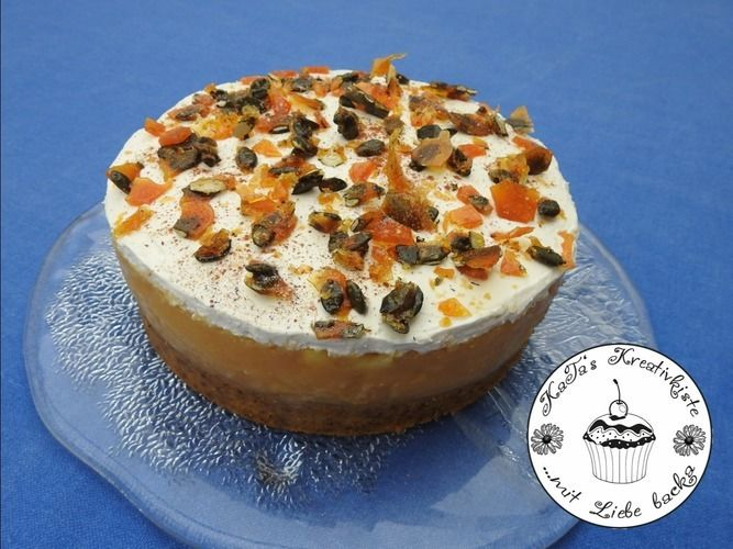 Makerist - Kürbiskuchen mit Apfelfüllung und Mascarpone-Creme - Torten, Cake Pops und Cupcakes - 1