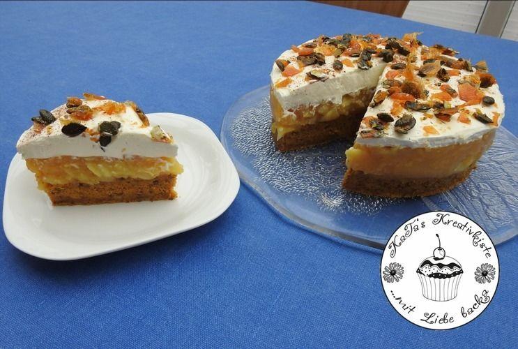 Makerist - Kürbiskuchen mit Apfelfüllung und Mascarpone-Creme - Torten, Cake Pops und Cupcakes - 2