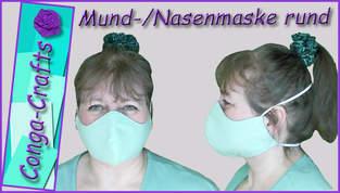 Rundmaske, Behelfsmaske, Mund-Nasen-Maske DIY