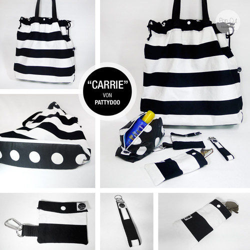 """Makerist - Strandtasche """"Carrie"""" mit Accessoires  - Nähprojekte - 1"""