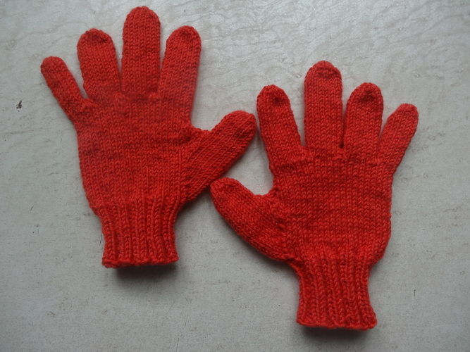Makerist - Finger Handschuhe für mein Enkel ,dass er gute Schneebälle formen kann   ;-) - Strickprojekte - 1