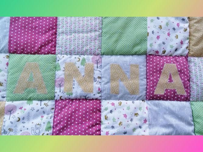 Makerist - ANNA'S KRABBELDECKE 💗 - Patchwork-Projekte - 1