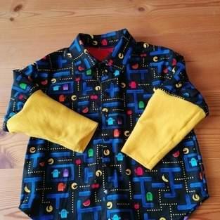 Chemise Pac-Man pour mon 3ans