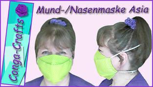 Mund-Nasen-Maske Asia nähen DIY