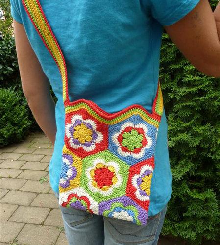 Makerist - Umhängetasche für Kids aus Granny Squares - Häkelprojekte - 1
