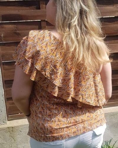 Makerist - Patron du top paresse dans une jolie viscose - Créations de couture - 2