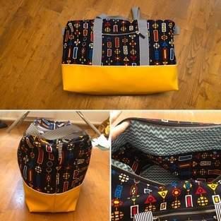 Makerist - Ma version du sac Georges en plus grand pour ranger le matériel de jongle - 1