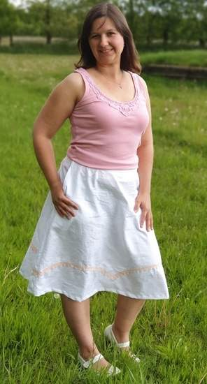 Rock Becky aus Baumwolle oder Leinen für Damen