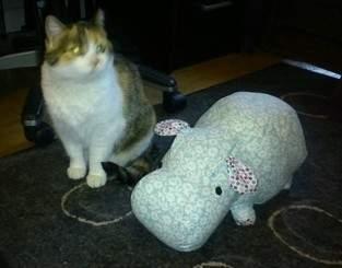 Peluche Rhino - transformée en Hippopotame