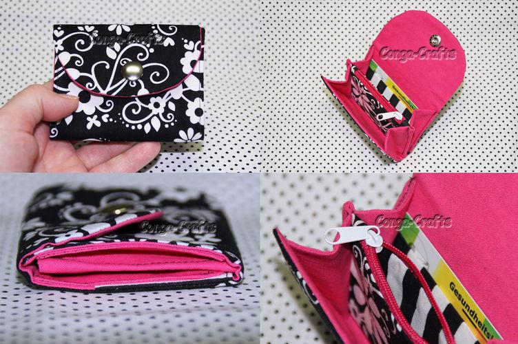 Makerist - Kleiner Geldbeutel - innen pink - Nähprojekte - 3