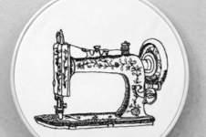 Makerist - Vintage Singer Nähmaschine Nähbild - 1