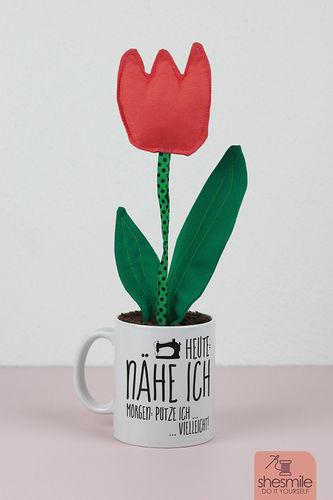 Makerist - Tulpe aus Stoff von meiner Tochter - Nähprojekte - 1