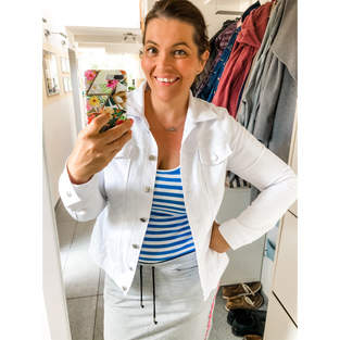 Makerist - Eine sommerliche, weiße Jeansjacke - 1