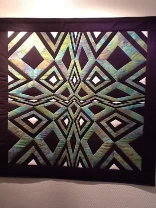 Makerist - OP-Art Quilt Wandbehang - 1