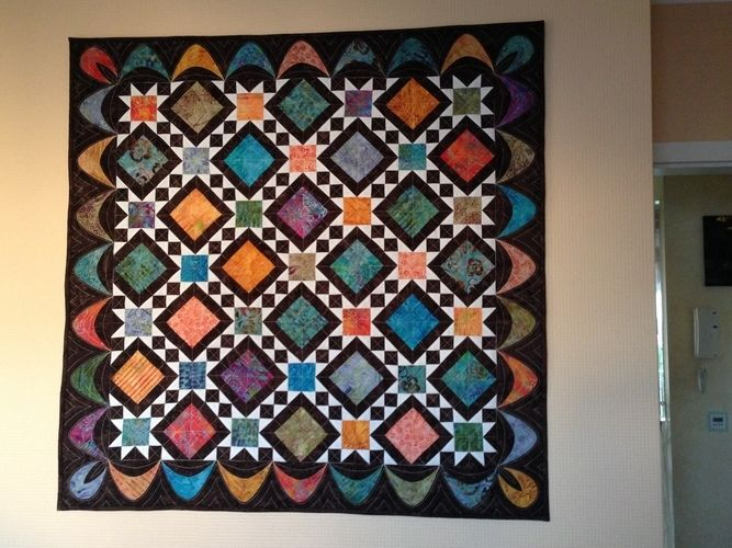 Makerist - Diamonds Wandbehang - Patchwork-Projekte - 1