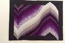 Makerist - Barghello in lila - 1
