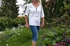 Makerist - Bluse Rosanne  in Gr.38 mit FBA, mit einem kräftigen, prominenten Reißverschluss, in der sportlich- legeren Variante.  - 1