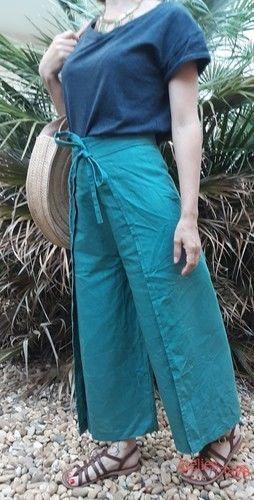 Makerist - Jupe culotte portefeuille en Lin (Camimade) - Créations de couture - 1