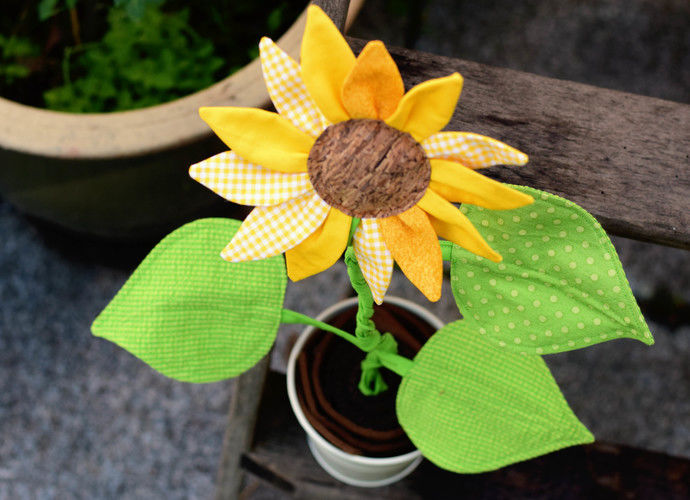 Makerist - Eine Sonnenblume für mich!  - Nähprojekte - 3