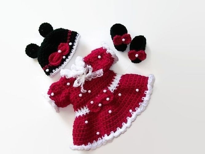 Makerist - Minnie mouse doll dress - Crochet Showcase - 1