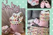 Makerist - Un trousseau bébé : chaussons, pochon Lison, balle Montessori et trousse pour le change - 1