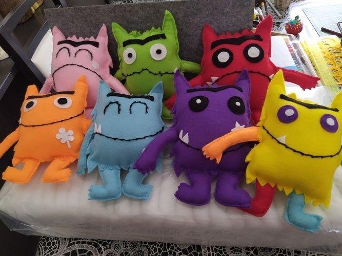 Makerist - La tribu des petits monstres émotions - Créations de couture - 1