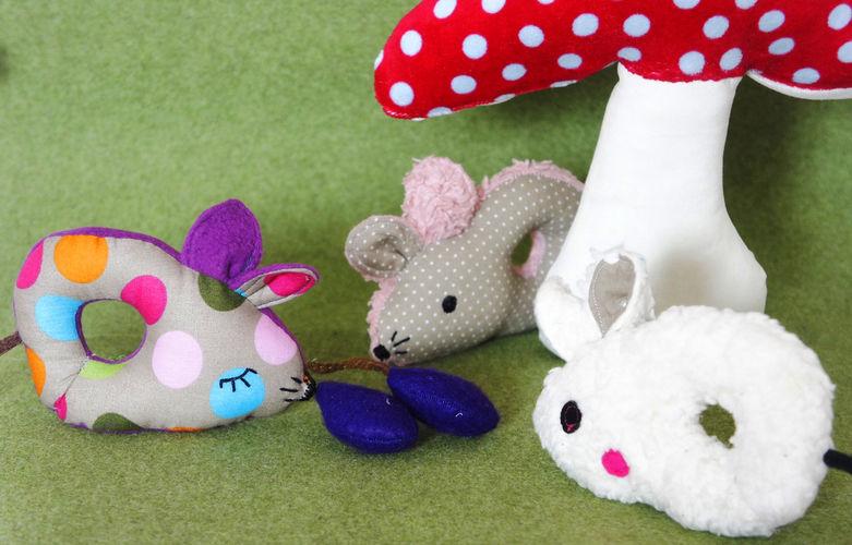 Makerist - Babyrassel Maus - Nähprojekte - 1