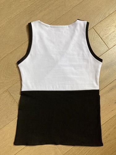 Makerist - Top taille S en jersey bi-color avec le patron de Madame Luise - #makeristalamaison - 2