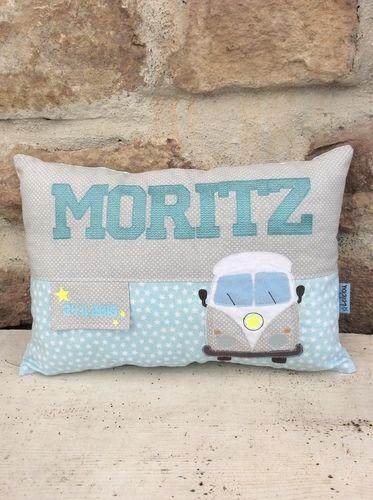 Makerist - GeburtsKissen für MORITZ - Textilgestaltung - 1