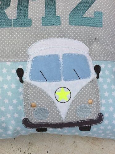 Makerist - GeburtsKissen für MORITZ - Textilgestaltung - 2