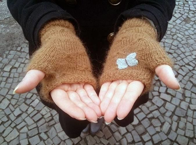 Makerist - Catching butterflies Handstulpen - Strickprojekte - 1