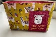 Makerist - Taschenorganizer Bellona mit Stickerei Lama als Geschenk - 1