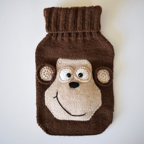 Makerist - Monkey Hot Water Bottle Cover - Knitting Showcase - 1