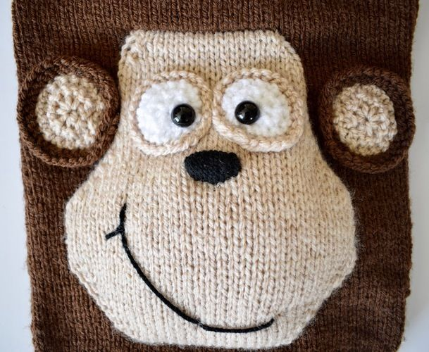 Makerist - Monkey Hot Water Bottle Cover - Knitting Showcase - 2