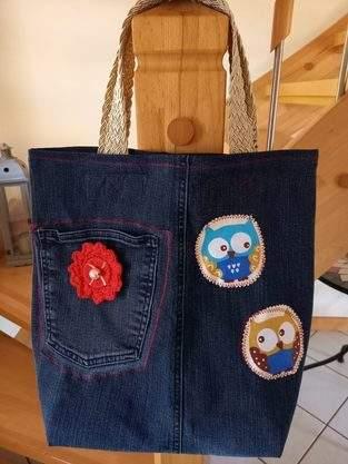 Jeans-Tasche, aus einer alten Jeans, für ein 12 jähriges Mädchen