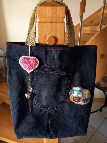 Makerist - Jeans-Tasche, aus einer alten Jeans, für ein 12 jähriges Mädchen - Nähprojekte - 2
