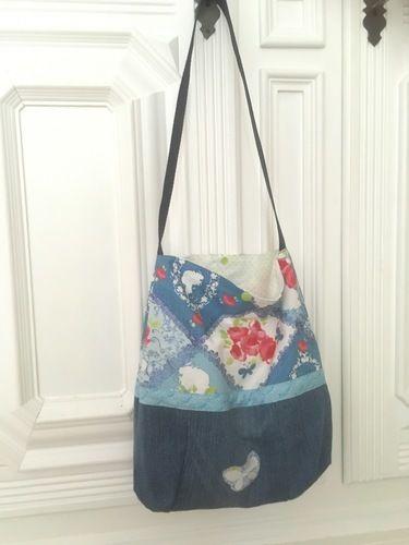 Makerist - Schultertasche Tasche Beutel Shopper die zweite - Nähprojekte - 1