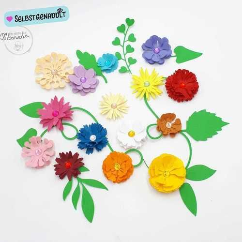 Makerist - Blumen Megapack Biberwerke - Grußkarte - DIY-Projekte - 2