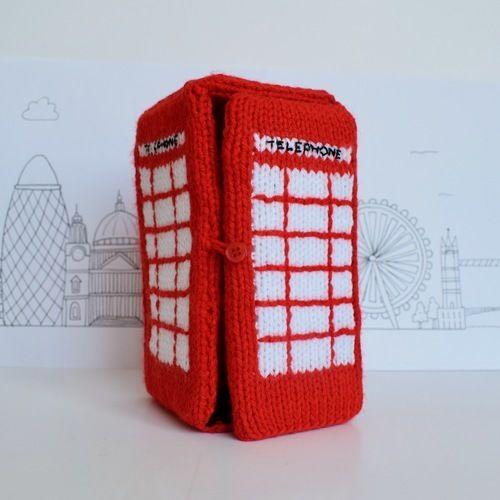 Makerist - Red Telephone Box - Knitting Showcase - 1