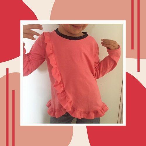 Makerist - Haut froufrouté en jersey en 5 ans - Créations de couture - 1